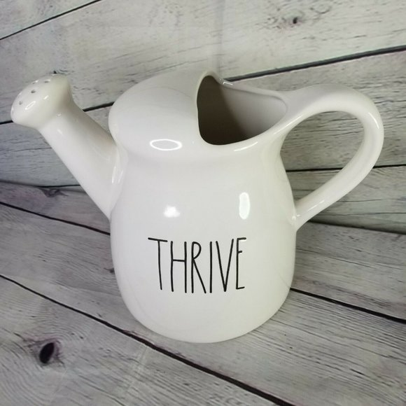 RAE DUNN THRIVE Watering Picture Jug Can Farmhouse